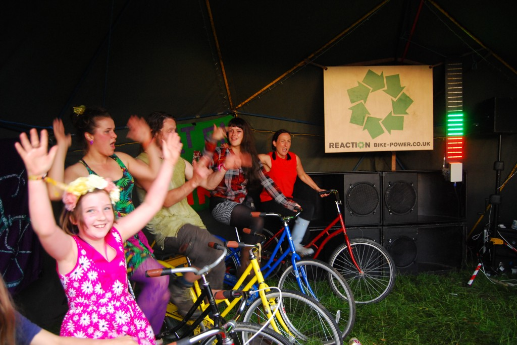Reaction Bikes and sound at Eden Festival 2014
