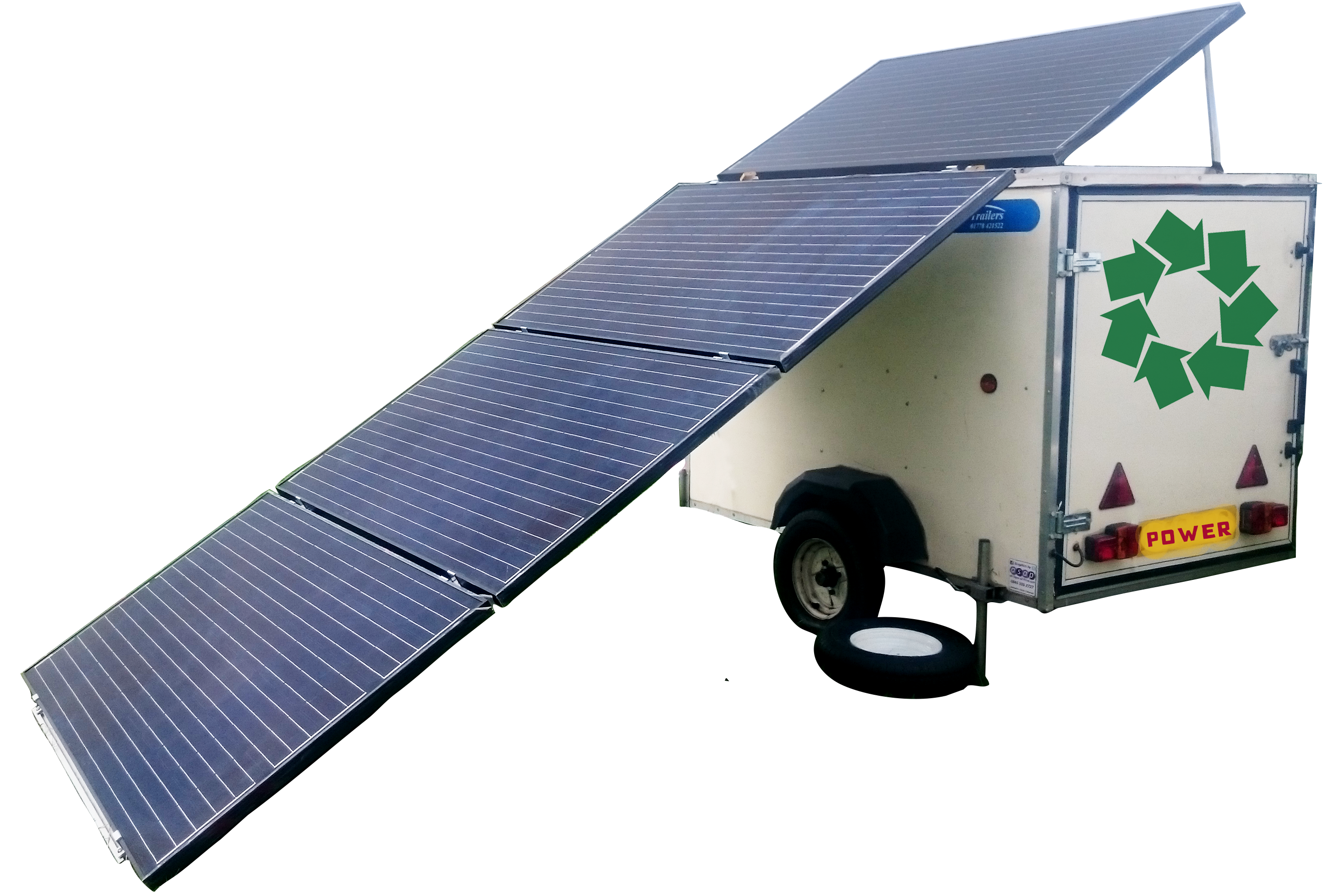 Mobile solar power for hire
